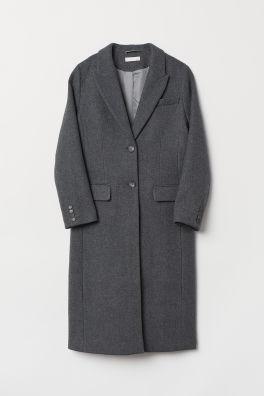 455b610ea0c2 Kabát z vlnenej zmesi