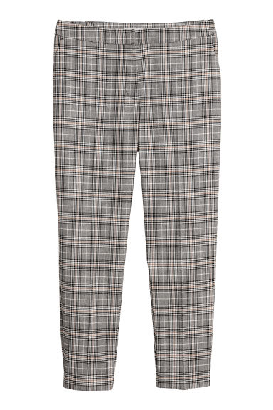 Tailored trousers - Black/Beige checked -  | H&M CN