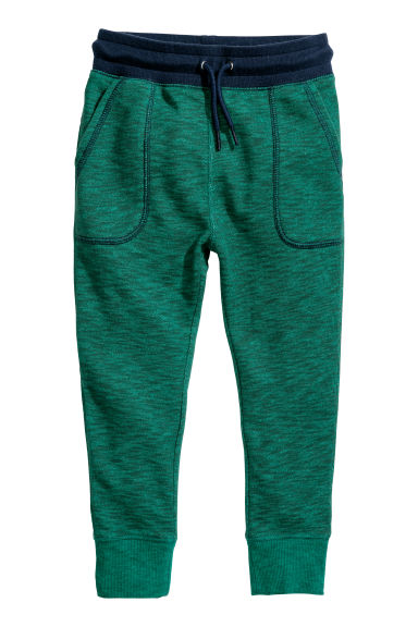 Joggers - Dark green melange - Kids | H&M