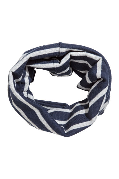 Jersey tube scarf - Dark blue/Striped - Kids | H&M CN