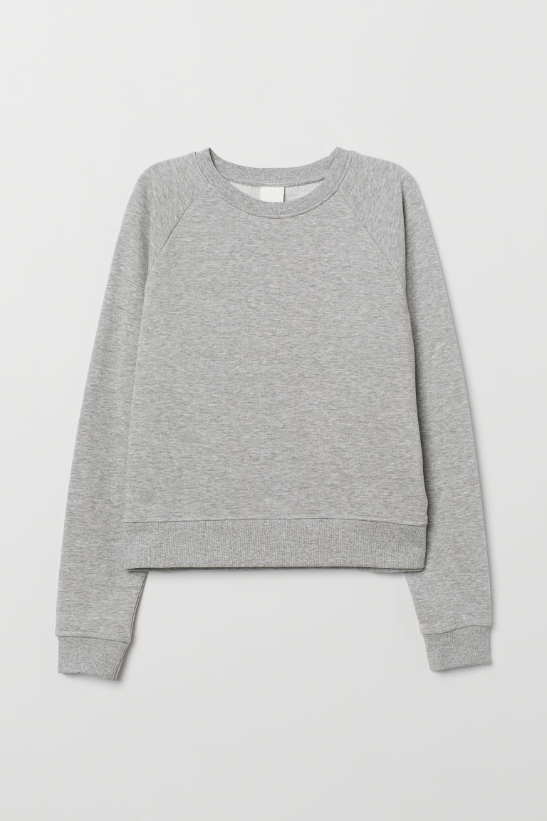 Sweatshirt - Light grey marl - Ladies | H&M GB