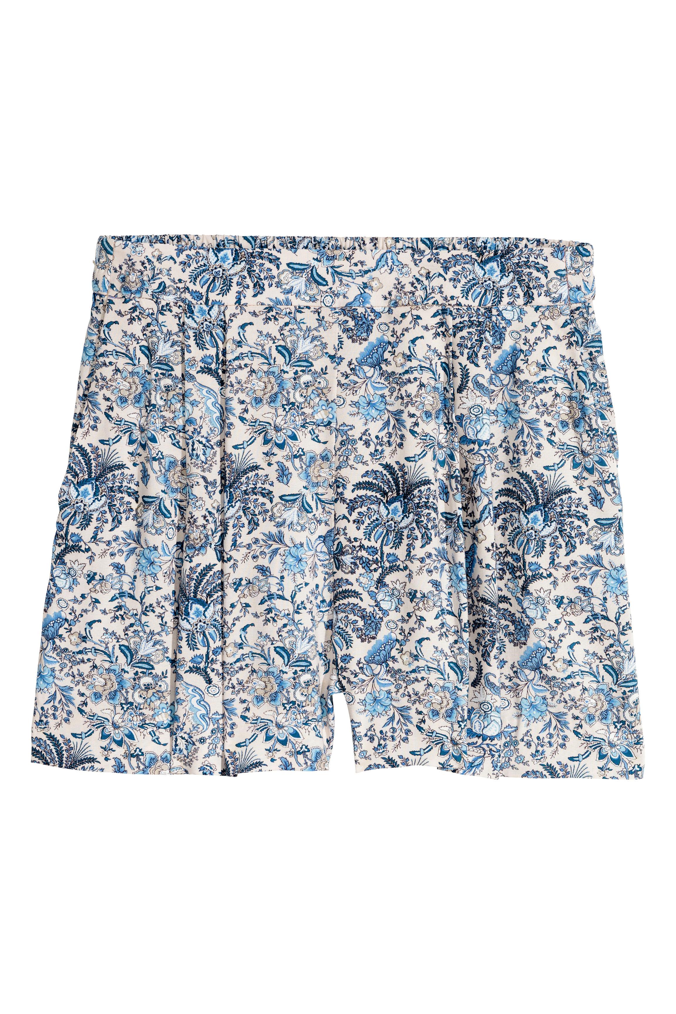 4c51d2116d Pantalón corto holgado - Estampado de cebra - MUJER