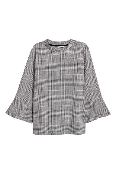 Dogtooth-patterned top - Dogtooth pattern -  | H&M