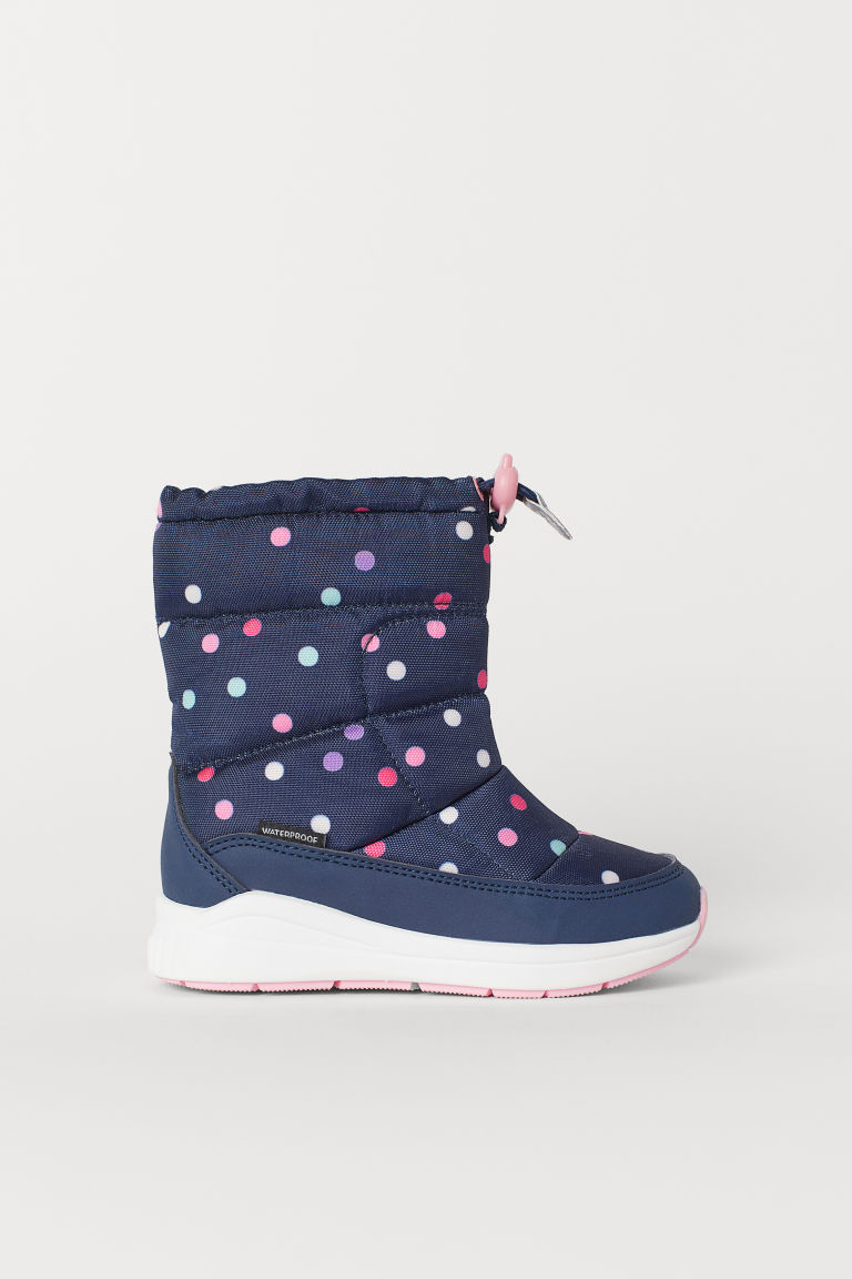 Waterproof boots - Dark blue/Spotted - Kids | H&M