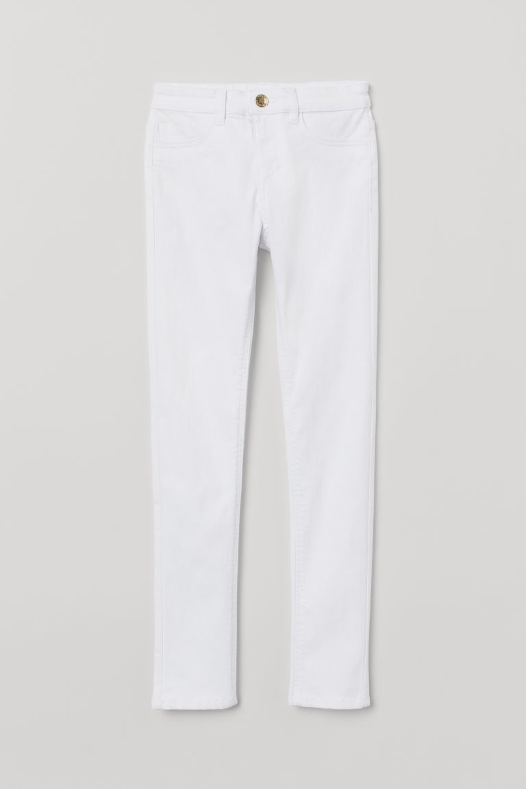 Superstretch trousers - White - Kids | H&M CN