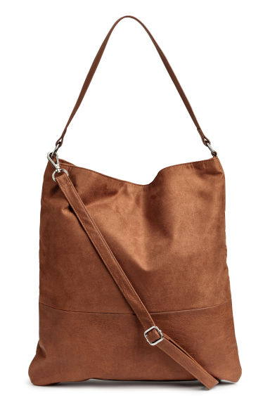 Shopper with shoulder strap - Brown - Ladies | H&M GB