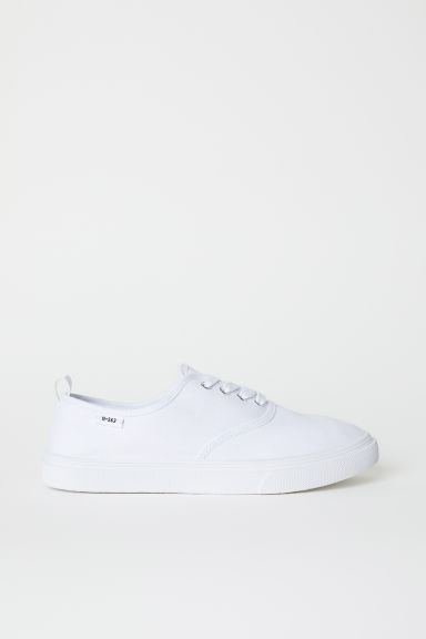 Canvas trainers - White -  | H&M CN