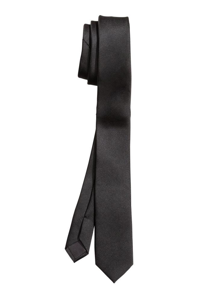 d0445384de884 Cravate en satin - Noir - | H&M ...