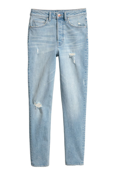 Vintage Skinny High Jeans - Light denim blue -  | H&M