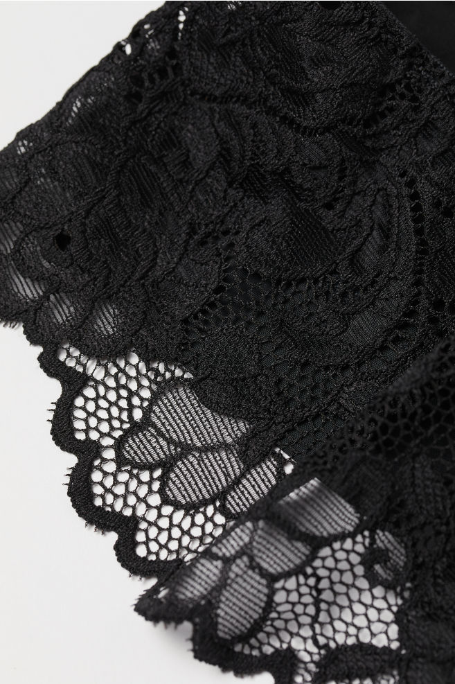 Culotte Hipster En Dentelle Noir Femme H M Fr