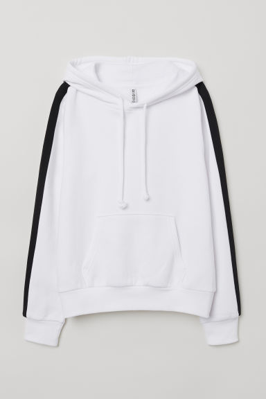 Hooded top - White/Black -  | H&M