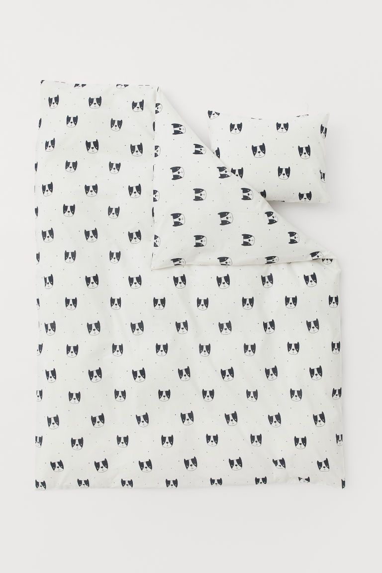 Funda nórdica estampada - Blanco/Perrros - HOME | H&M ES