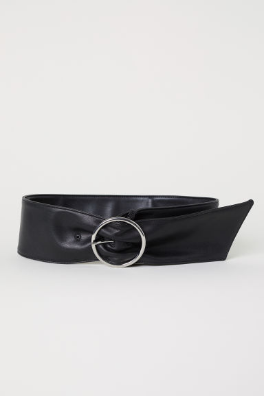 Wide waist belt - Black - Ladies | H&M