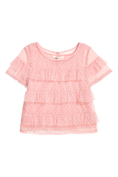 Tiered tulle top - Pink - Kids | H&M CN