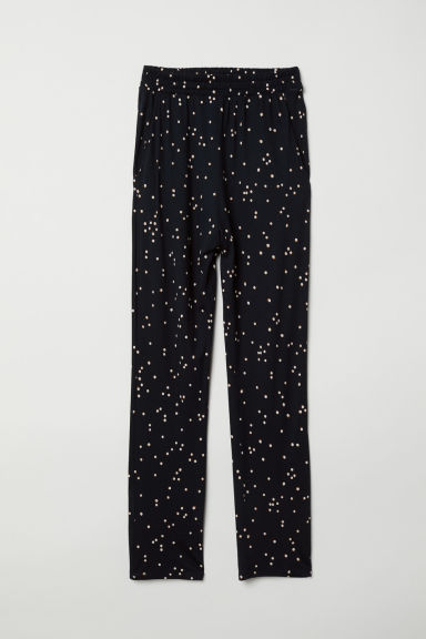 Jersey trousers - Black/Spotted - Ladies | H&M