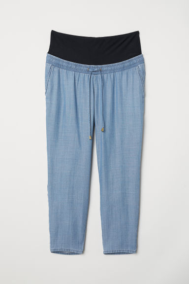 MAMA Wide trousers - Denim blue - Ladies | H&M