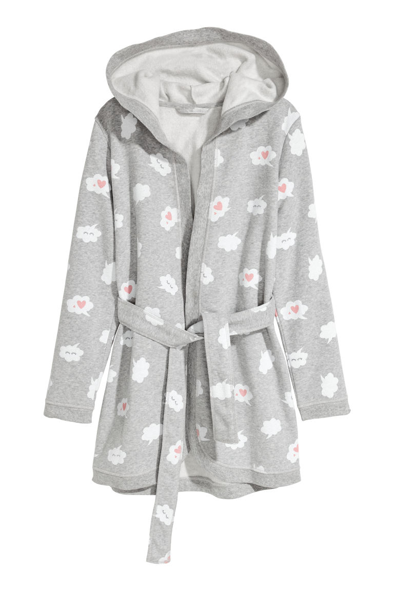 Dressing gown - Grey/Speech bubbles - Kids | H&M
