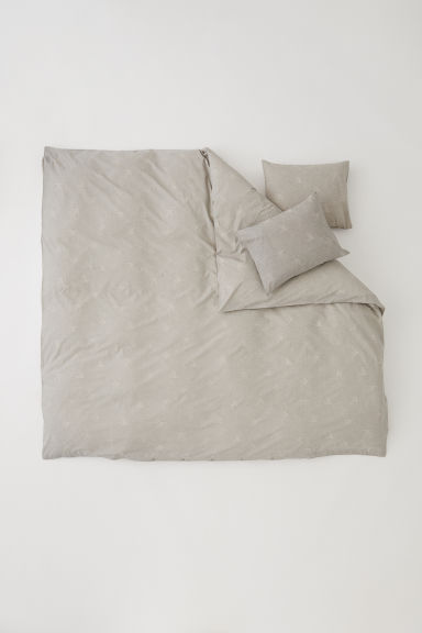 Patterned duvet cover set - Mole/Patterned - Home All | H&M CN