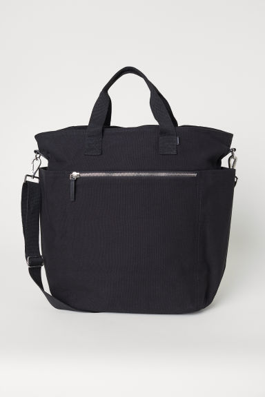 Canvas shoulder bag - Black - Men | H&M