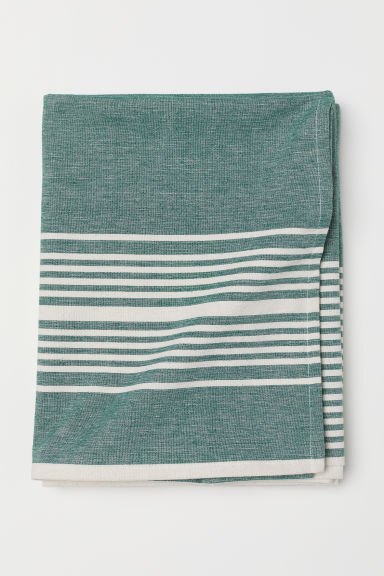 Cotton tablecloth - Green/Striped - Home All | H&M CN