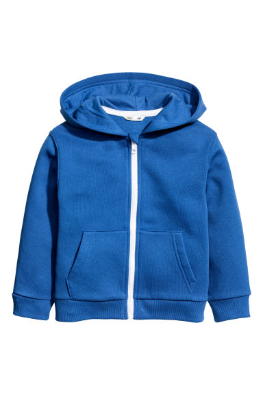 Hooded jacket - Bright blue - Kids | H&M IE