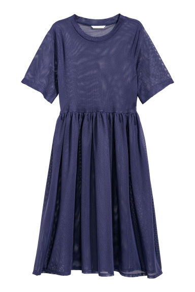 Mesh dress - Dark blue - Ladies | H&M
