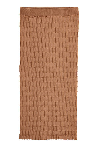 Textured skirt - Camel - Ladies | H&M CN
