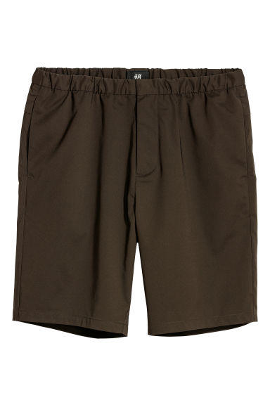 Elasticated shorts - Dark khaki green -  | H&M CN