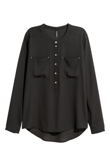 Crêpe blouse - Black - Ladies | H&M CN