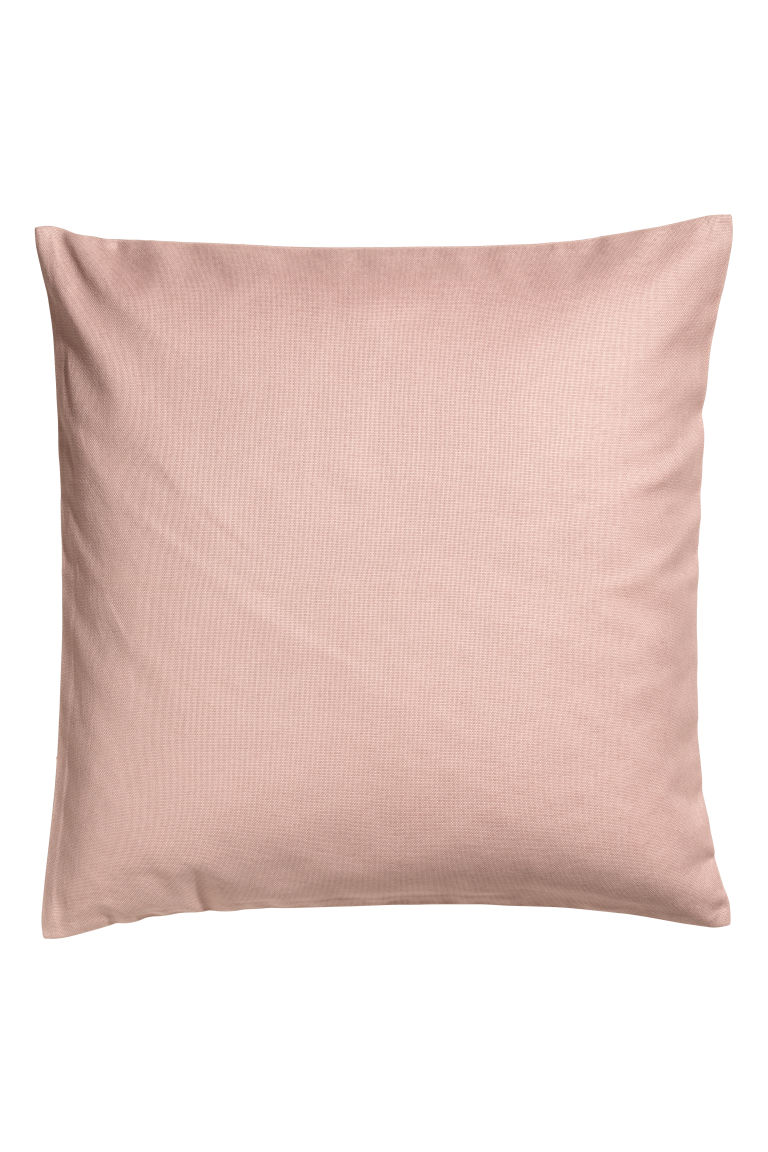Cotton canvas cushion cover - Old rose -  | H&M CN