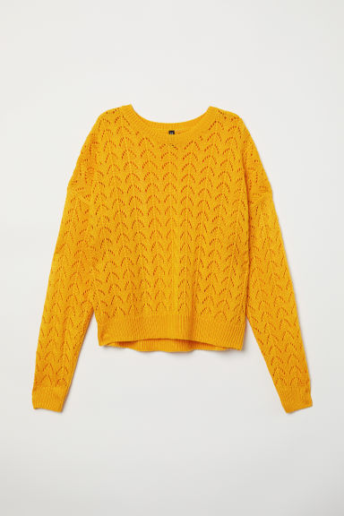 Knitted jumper - Yellow -  | H&M CN