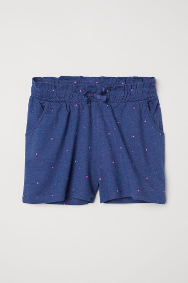 Jersey shorts - Dark blue/Stars - Kids | H&M CN