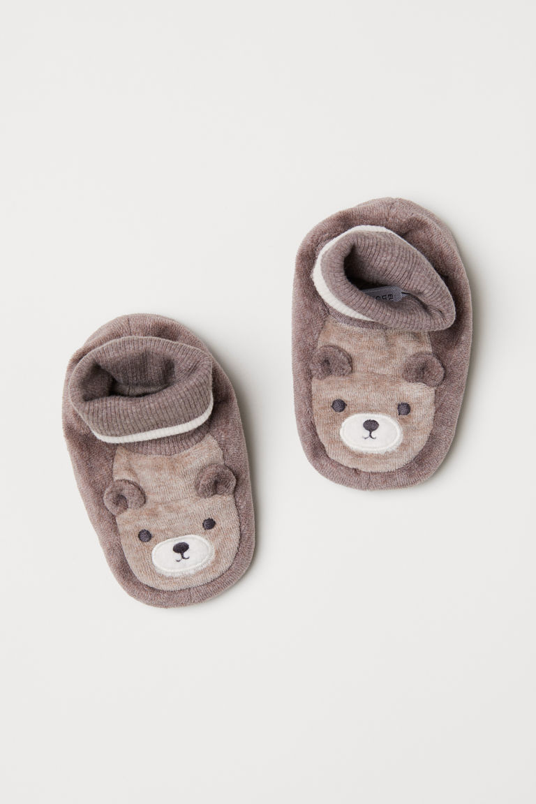 Velour bootees - Mole/Bear - Kids | H&M