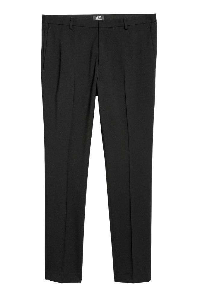 Suit Pants Super Skinny Fit Black Men Hm Us