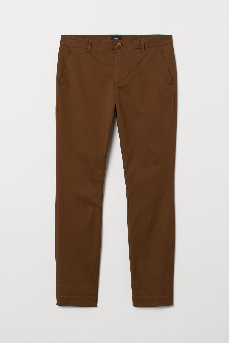 Chinos i bomull Slim Fit - Brun -  | H&M FI