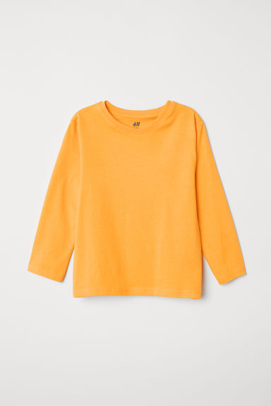Jersey top - Bright yellow - Kids | H&M