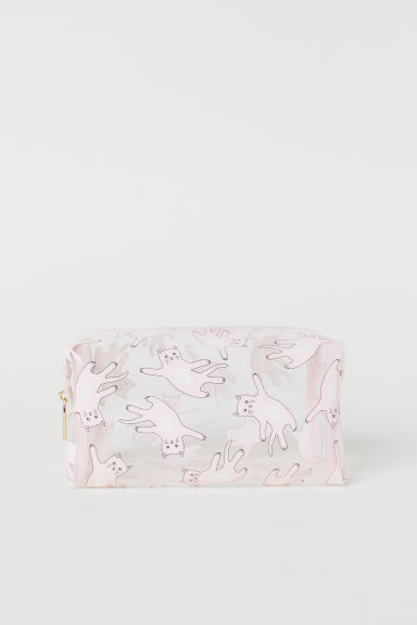 Transparent make-up bag - Transparent/Cats - Ladies | H&M
