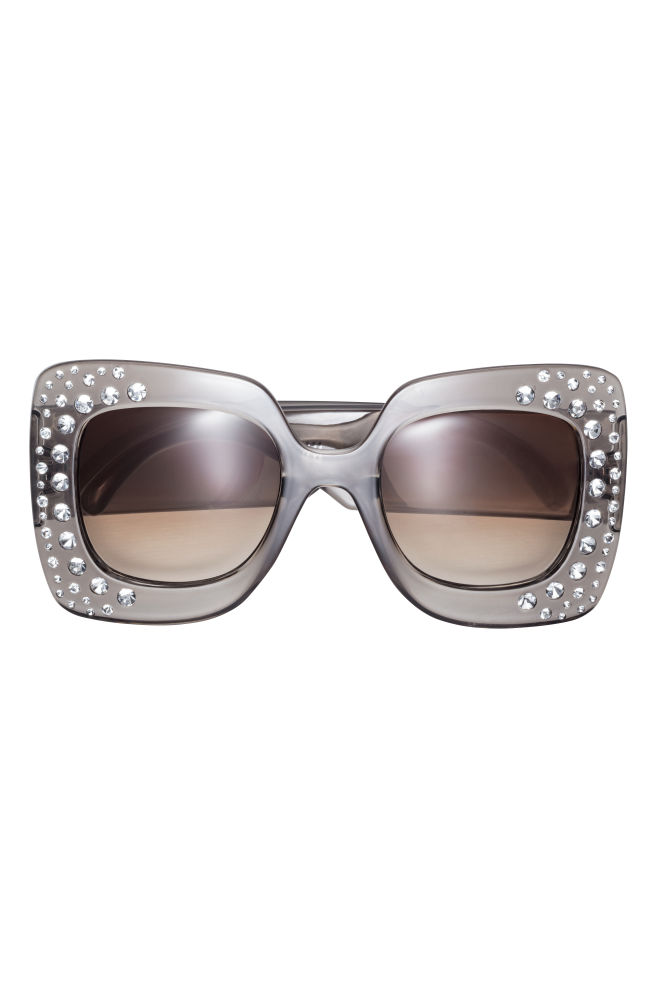 39d4f458d3ea2 Sunglasses with sparkly stones - Charcoal grey Sparkly stones - Ladies