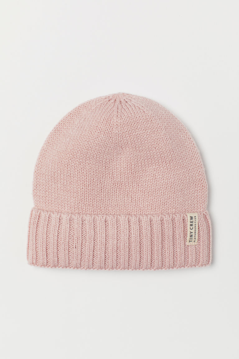 Knitted hat - Light pink - Kids | H&M CN