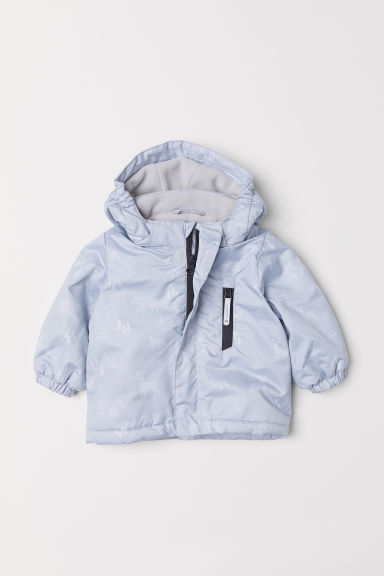 Padded outdoor jacket - Light grey/Patterned - Kids | H&M