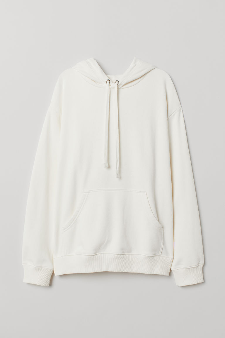 Sudadera con gorro - Blanco natural - Ladies | H&M US