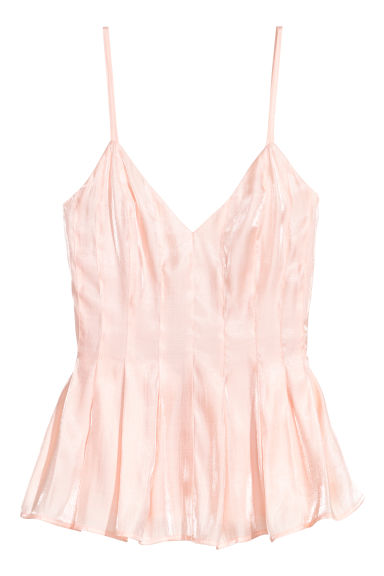 V-neck top - Powder pink - Ladies | H&M