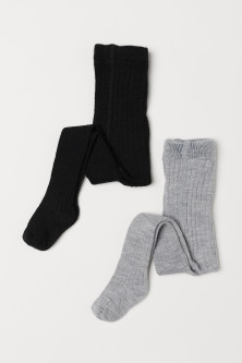 2-pack wool-blend tights