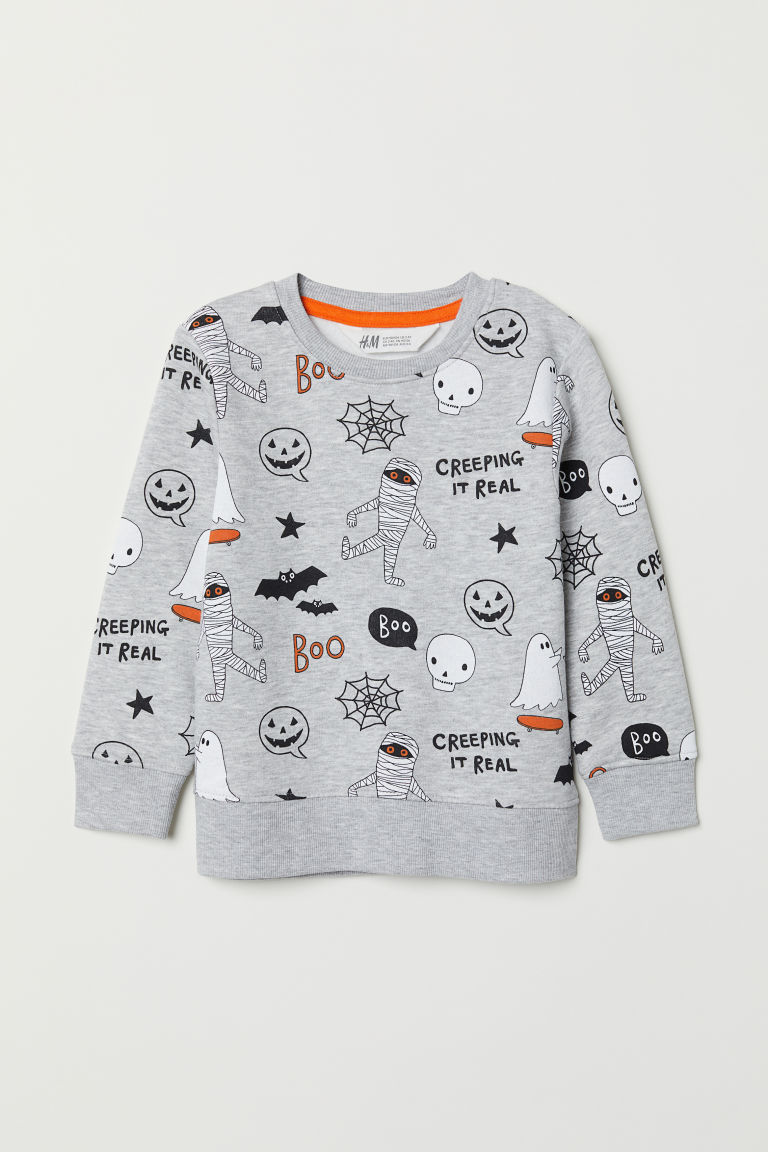 Sweatshirt - Light gray/Boo - Kids | H&M US