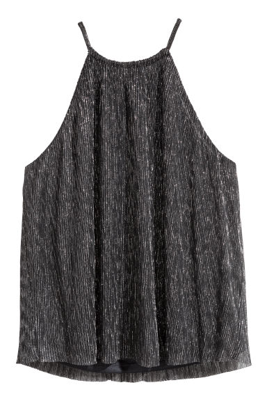 Glittery top - Black/Silver-coloured -  | H&M IE