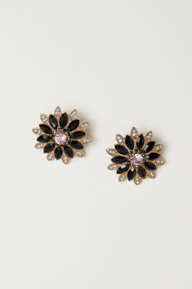 Sparkly earrings - Black -  | H&M