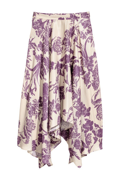 Patterned skirt - Powder beige/Purple - Ladies | H&M