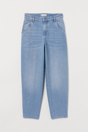 Tapered High Jeans