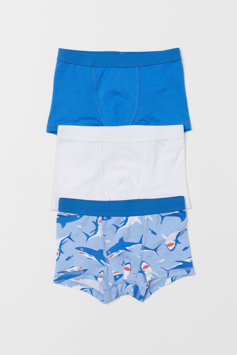 3-pack boxer shorts - Blue/Sharks - Kids | H&M