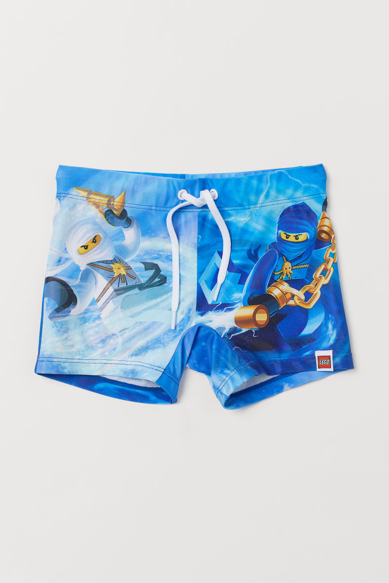 Printed swimming trunks - Blue/Ninjago - Kids | H&M IN